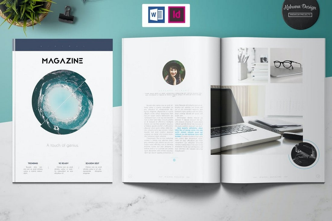 Clean Minimal InDesign Magazine Template