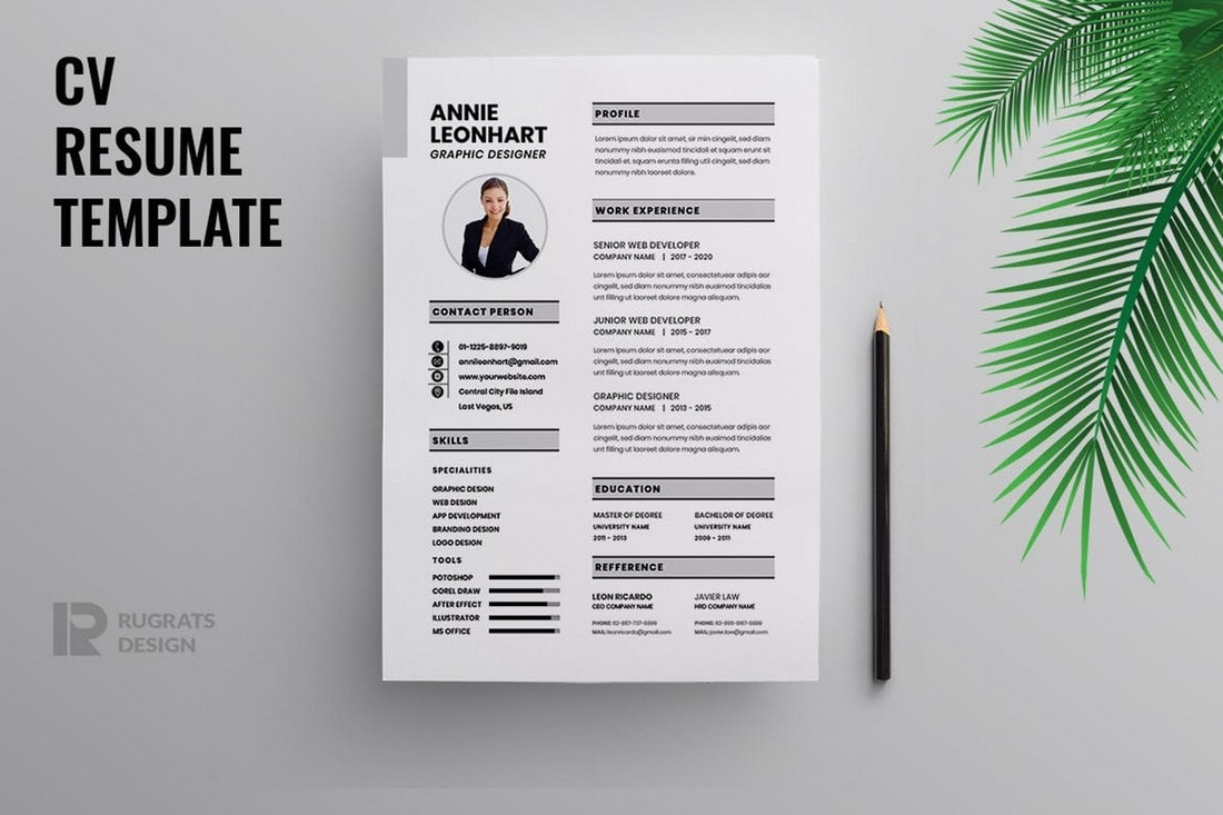 Clean-Minimal-Resume-Template 50+ Best CV & Resume Templates 2020 design tips