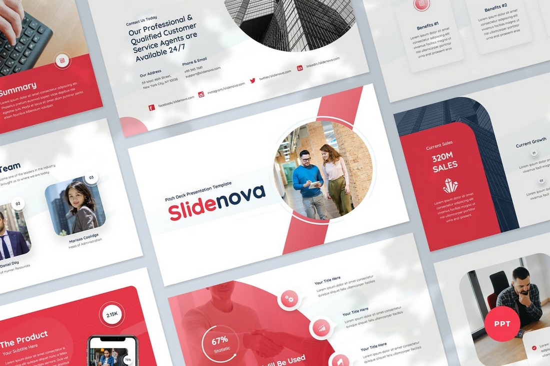 Clean Pitch Deck PowerPoint Template