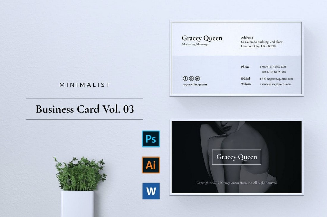 Clean-Professional-Business-Card-Template 20+ Business Card Templates for Google Docs (Free & Premium) design tips