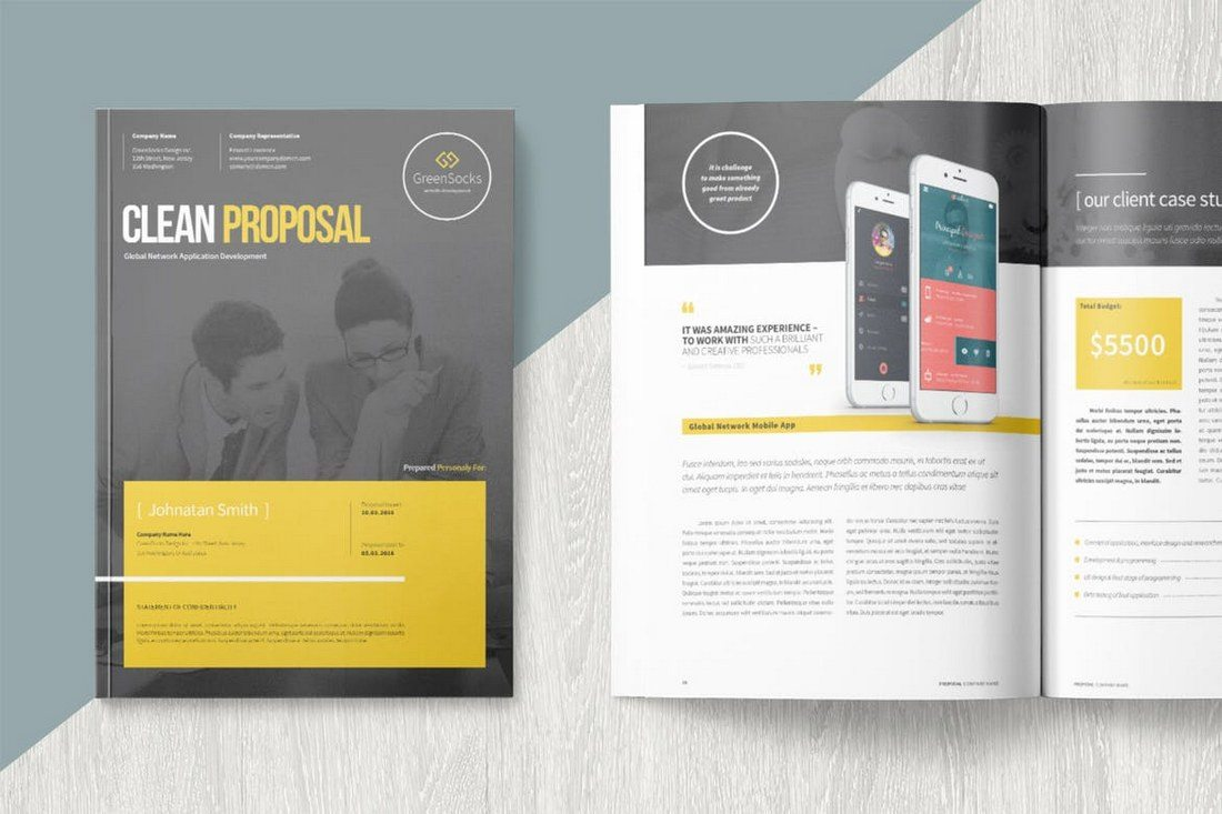 Clean-Proposal-Template 40+ Best Microsoft Word Brochure Templates 2020 design tips  Inspiration|brochure|templates