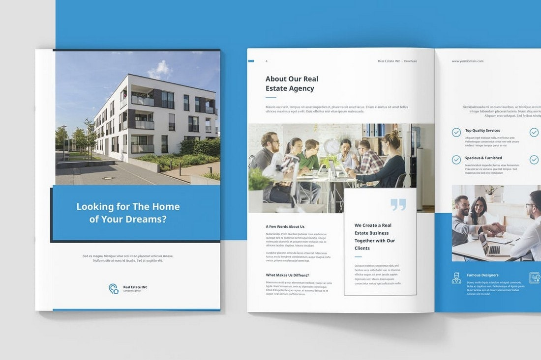 Clean Real Estate Brochure Template