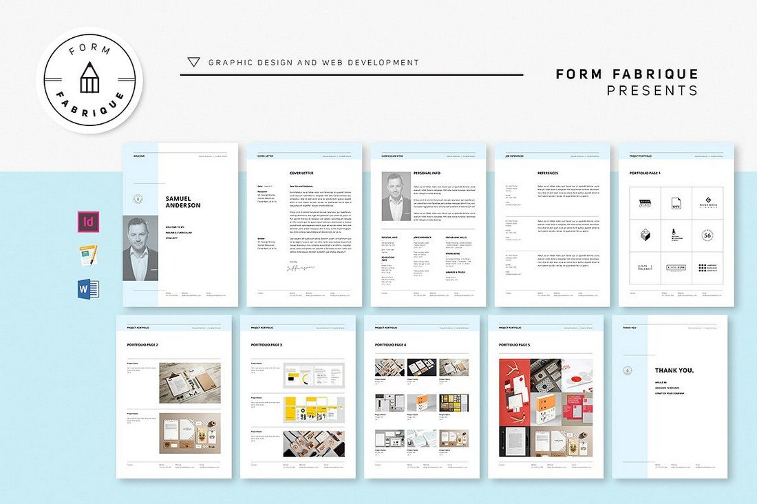 Clean-Resume-Template-with-10-Pages 20+ Best Pages Resume & CV Templates design tips