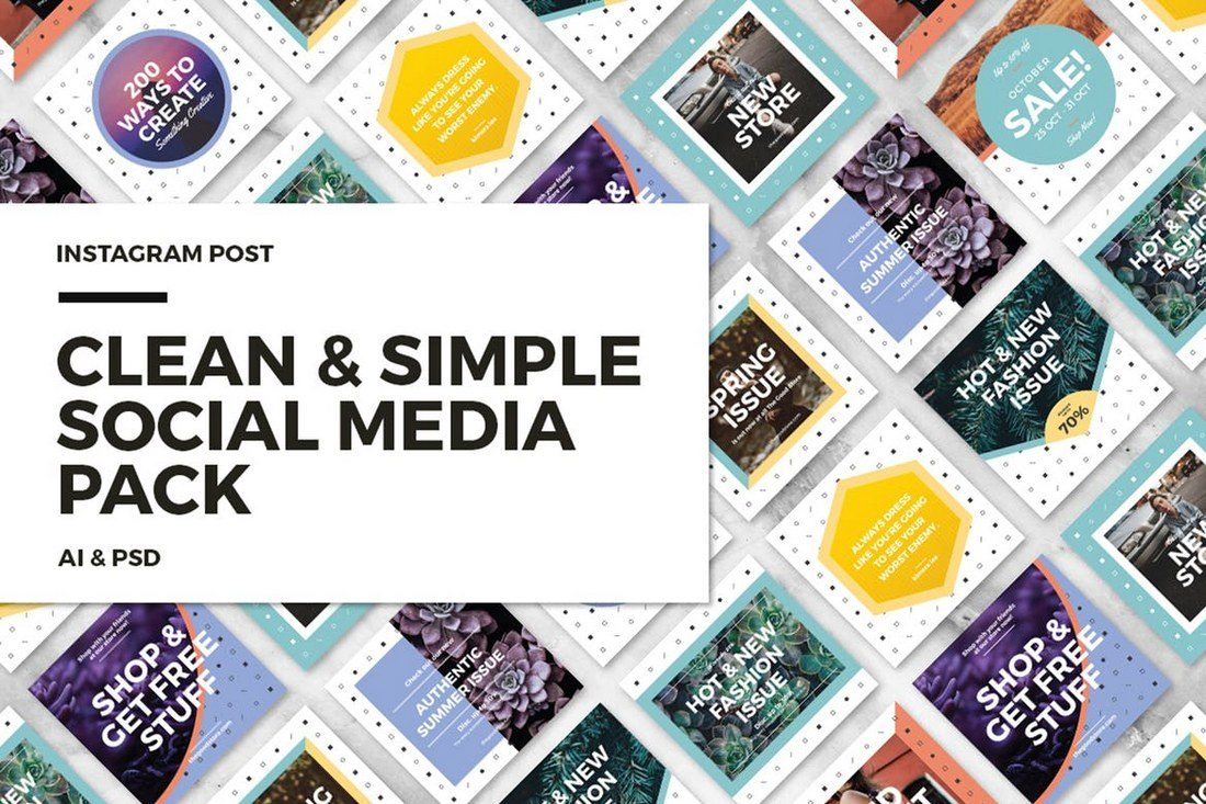 20 best social media kit templates graphics design shack