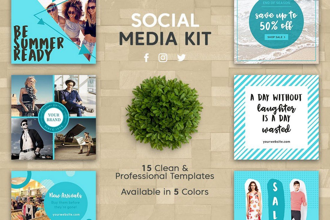 Clean-Social-Media-Kit 40+ Best Social Media Kit Templates & Graphics design tips  Inspiration|facebook|social media|twitter