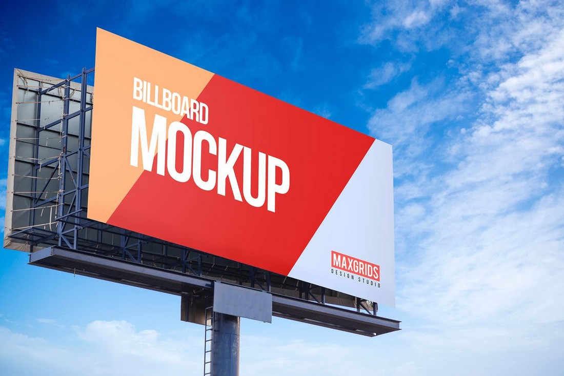 Close-Up Advertisement Billboard Mockup