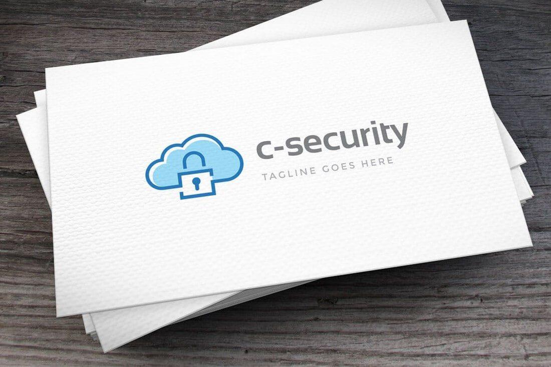 Cloud-Security-Logo-Template 50+ Best Minimal Logo Design Templates design tips