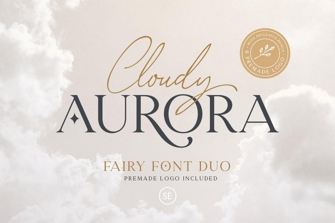 Cloudy Aurora - Modern Font Duo