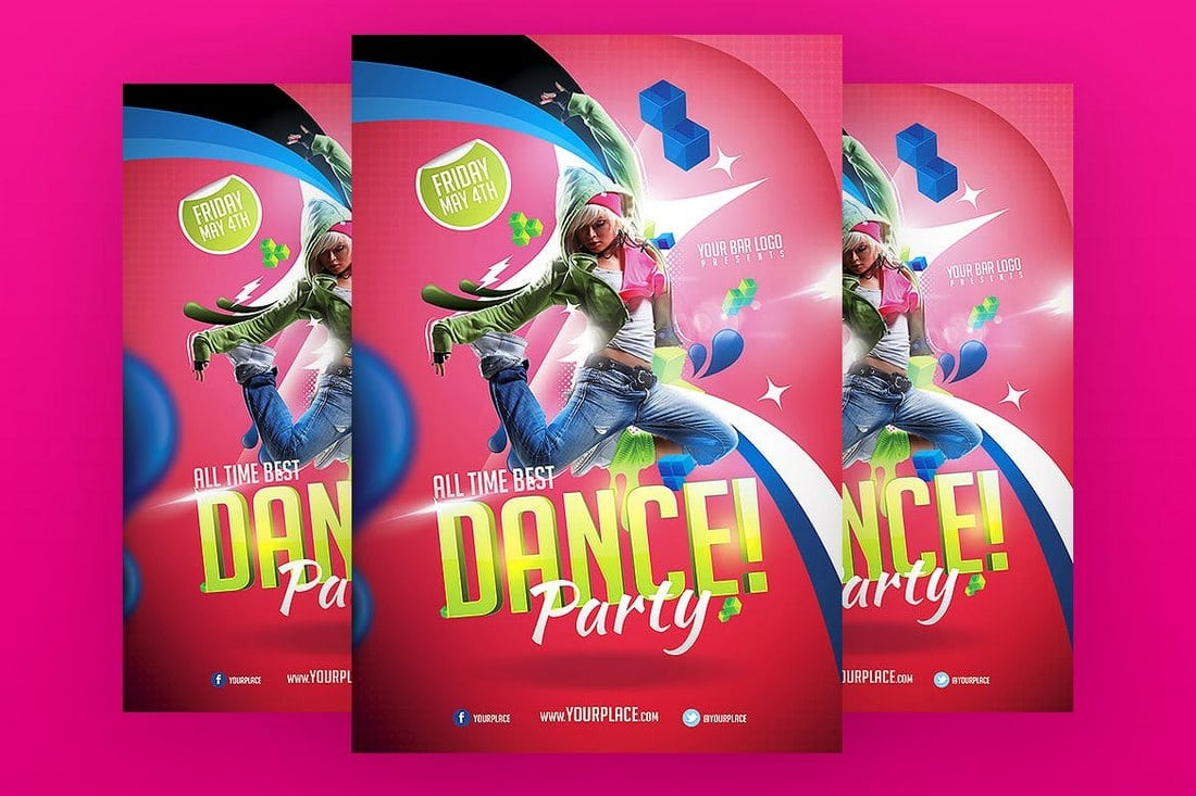 Club-Dance-Party-Flyer-Template 30+ Best Event Flyer Templates design tips
