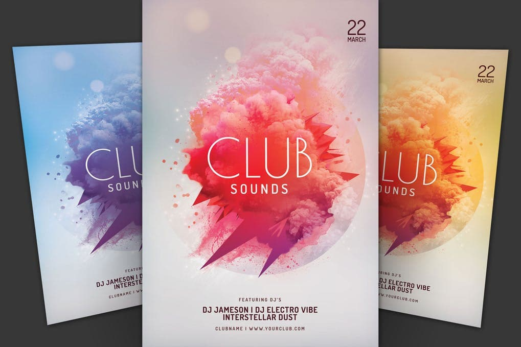 Club-Sounds-Flyer 20+ Best Club Flyer Templates design tips  Inspiration