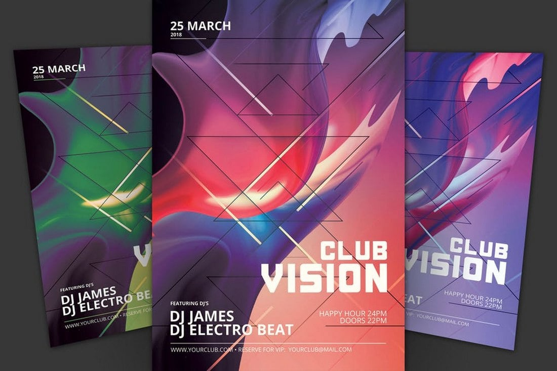 Club-Vision-Flyer-Template 20+ Best Club Flyer Templates design tips  Inspiration