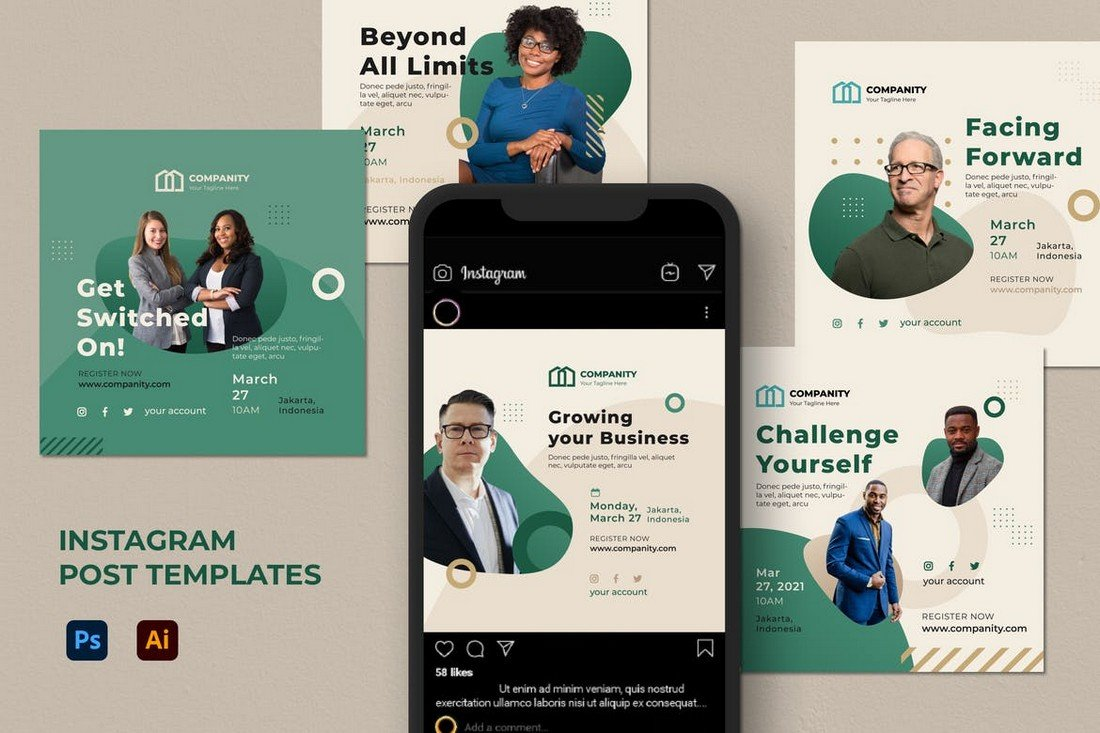 Coaching & Agency Instagram Post Templates