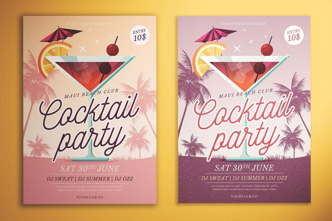 Cocktail-Party-Flyer 30+ Best Event Flyer Templates design tips