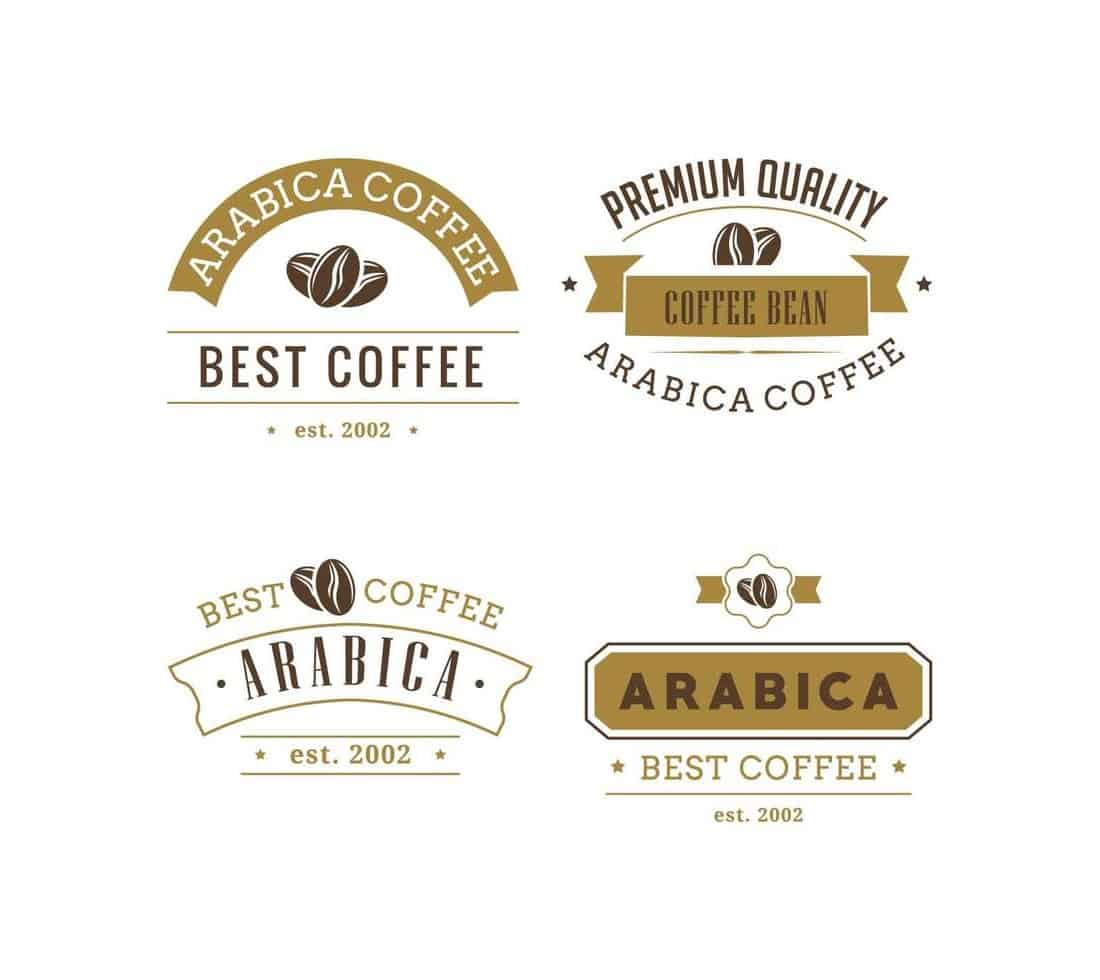 Coffee-Logos-Badges-Collection 20+ Best Free Logo Templates design tips