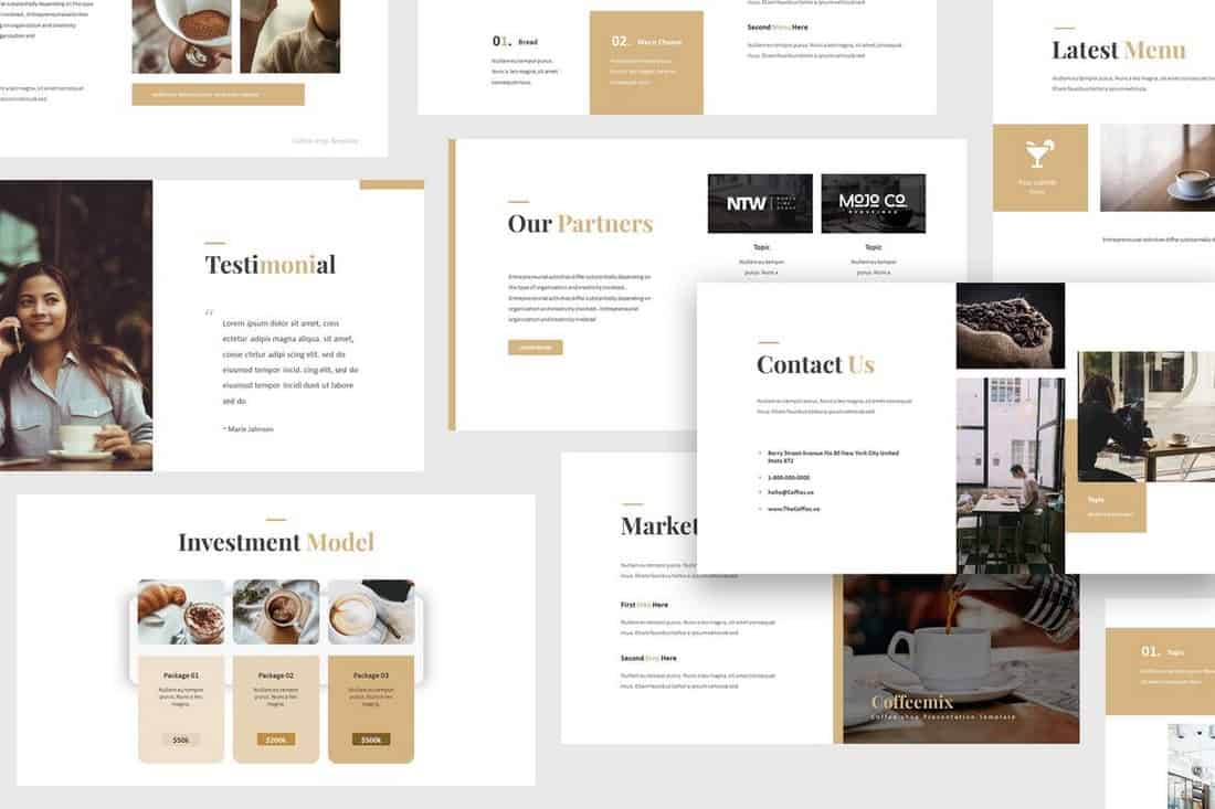 Coffee Shop - Minimal Google Slides Template