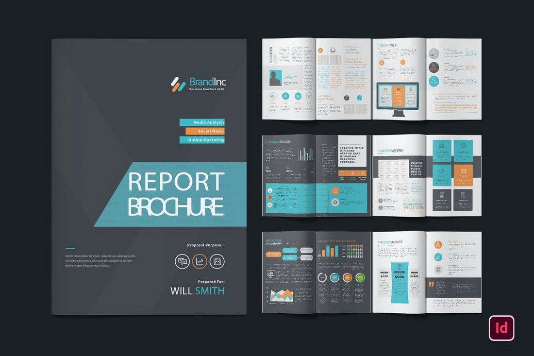 Coloful-Annual-Report-InDesign-Template 50+ Annual Report Templates (Word & InDesign) 2021 design tips