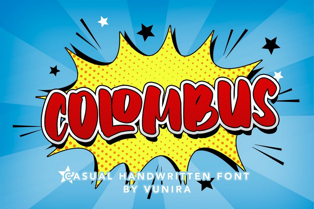 Colombus - Decorative Comic Font