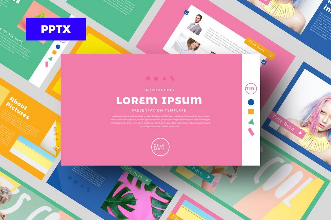 Color-FUN-Cool-Powerpoint-Template 20+ Best Cool PowerPoint Templates design tips