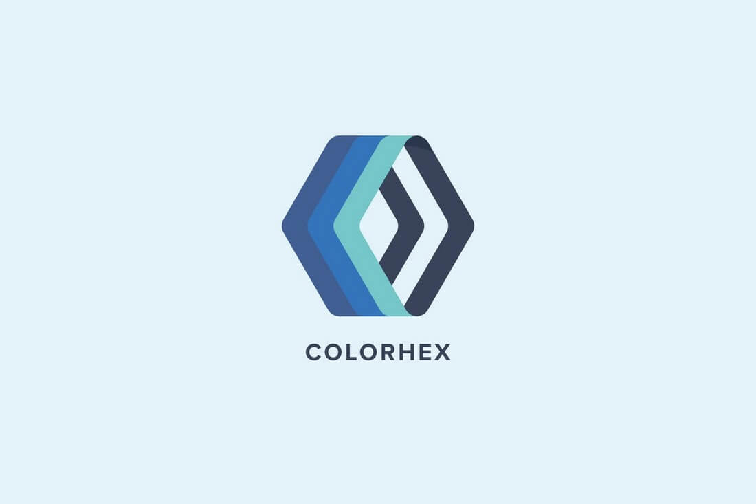 50 best minimal logo design templates design shack with a unique take on a familiar design the color hex logo seems ideal for almost any type of a business or brand the logo template is fully editable wajeb Image collections