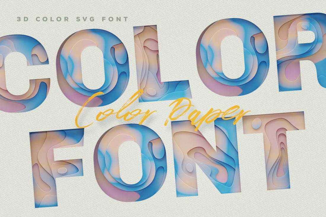 Color-Paper-Beautiful-Color-Fonts 20+ Best Color Fonts of 2020 design tips