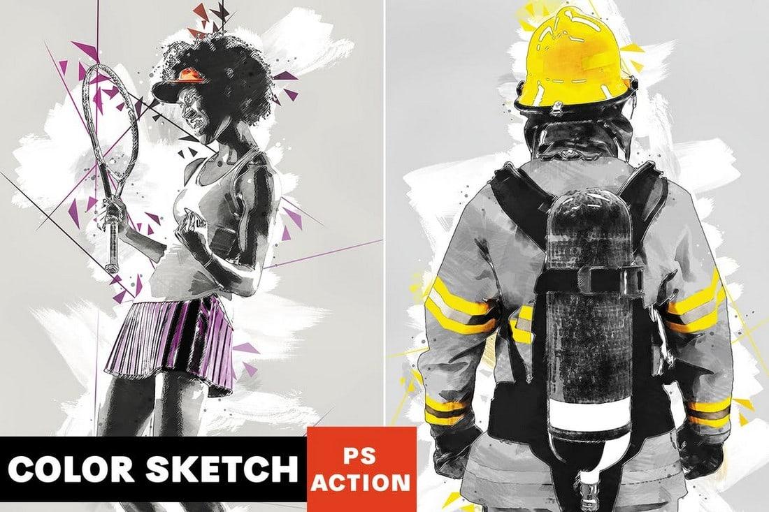 Color Sketch - Artistic Photoshop Action