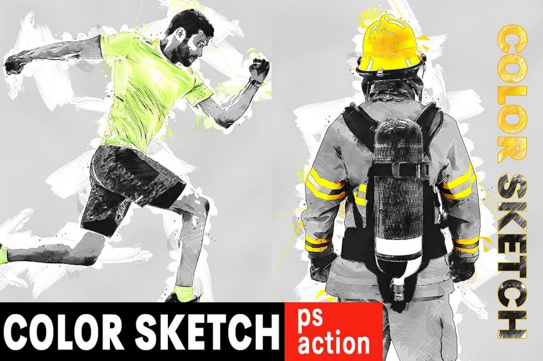 Color Sketch Photoshop Action