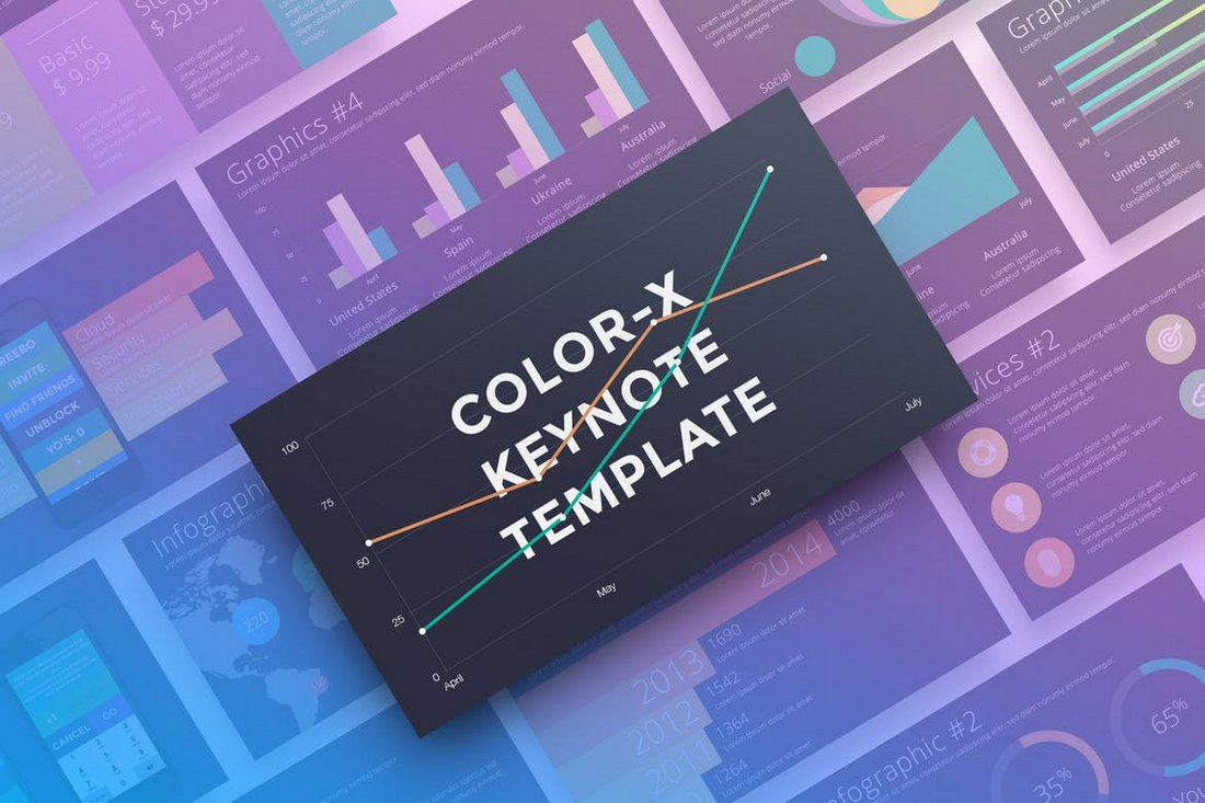 Color-X-Animated-Keynote-Template 15+ Best Animated Keynote Templates With Stylish Transitions design tips