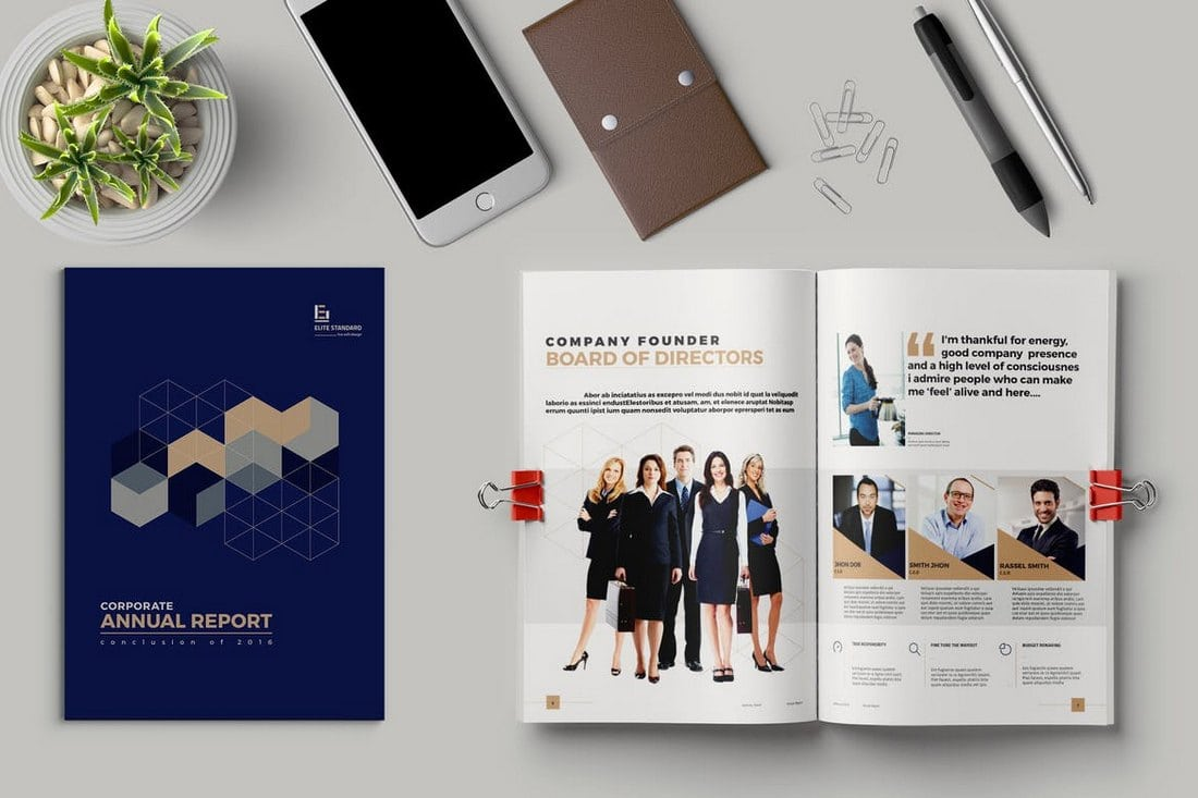 Colorful-Annual-Report-Template 20+ Annual Report Templates (Word & InDesign) 2018 design tips