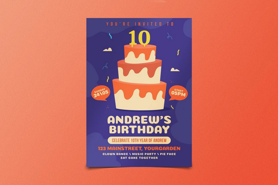 Colorful Birthday Party Flyer Template