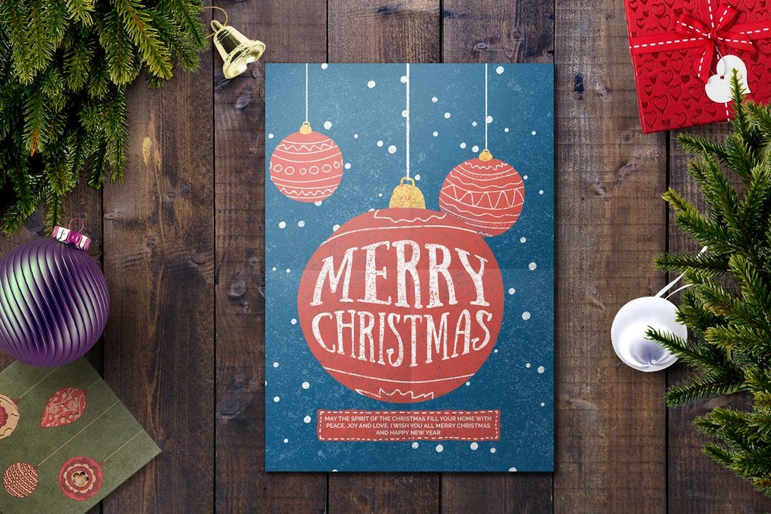 Colorful Christmas Card Template