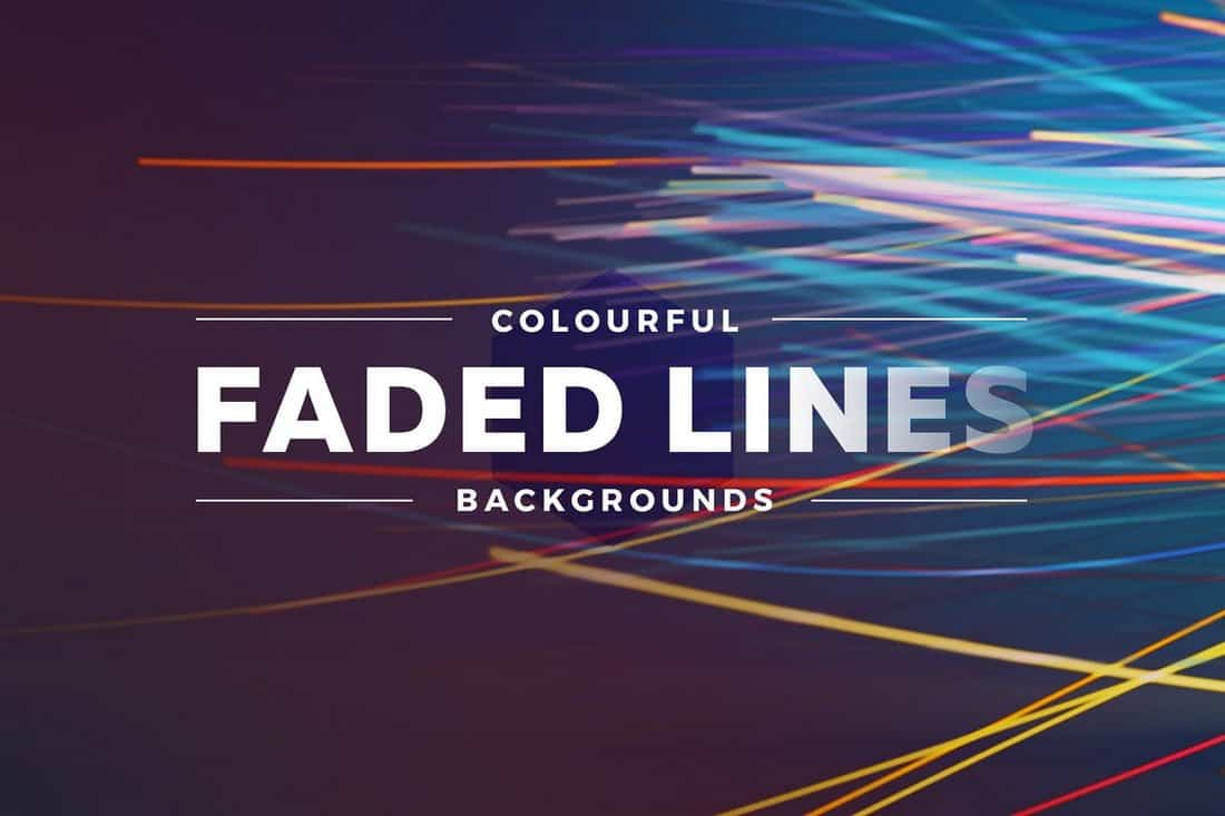 Colorful Faded Lines Backgrounds