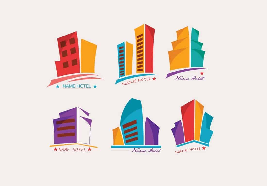 Colorful-Hotel-Logo-Templates 20+ Best Free Logo Templates design tips