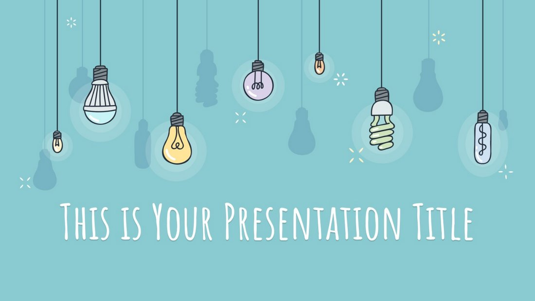 Colorful Light Bulbs Free Education PowerPoint Template