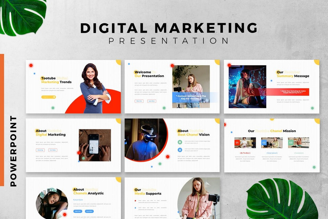Colorful Marketing Plan PowerPoint Template