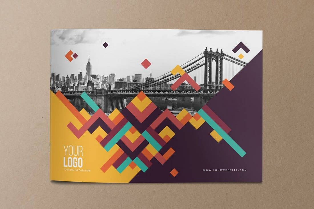 Colorful Pattern Brochure Cover Template