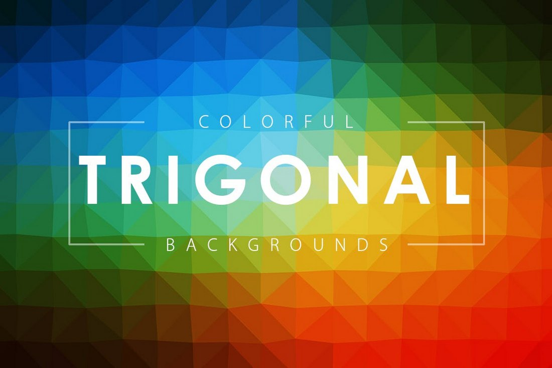 Colorful Trigonal Backgrounds