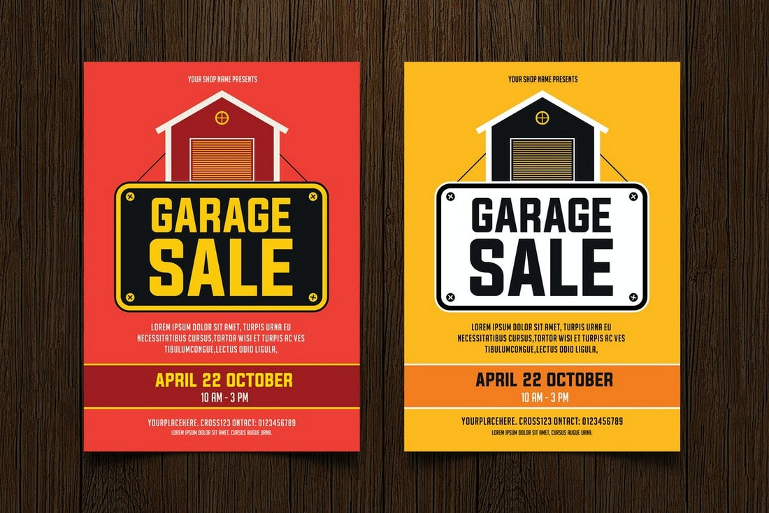 Colorful Yard Sale Flyer Templates