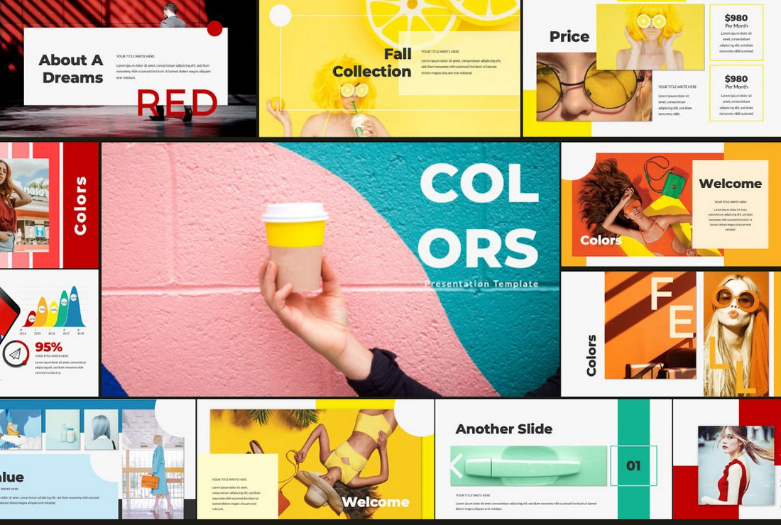 Colors - Colorful free Powerpoint template