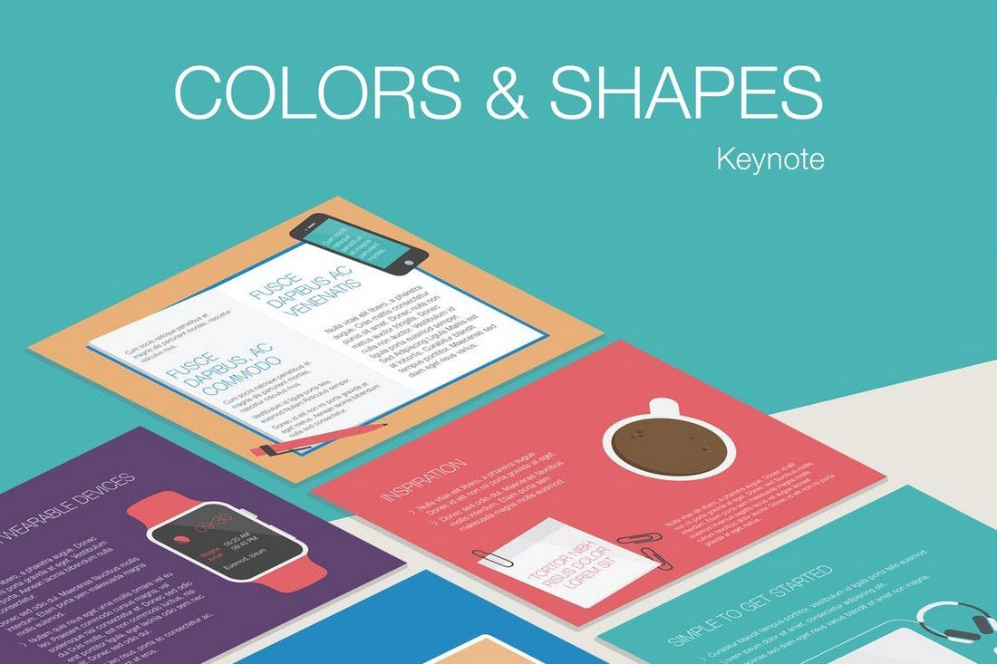 Colors-Shapes-Keynote-Template 30+ Best Minimal & Creative Keynote Templates design tips