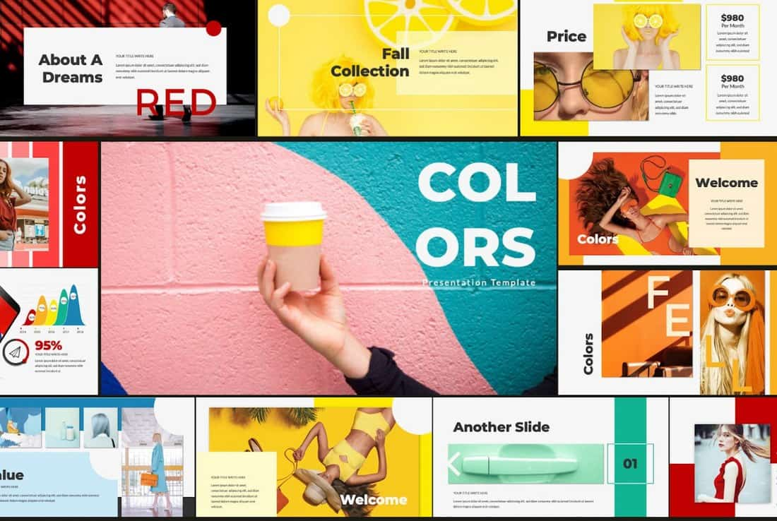 Colors - Stylish Free PowerPoint Template