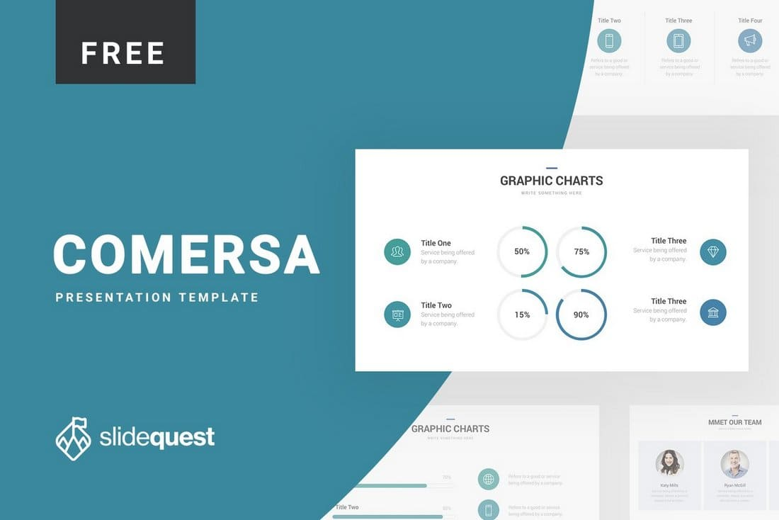 Comersa Free Pitch Deck Presentation Template