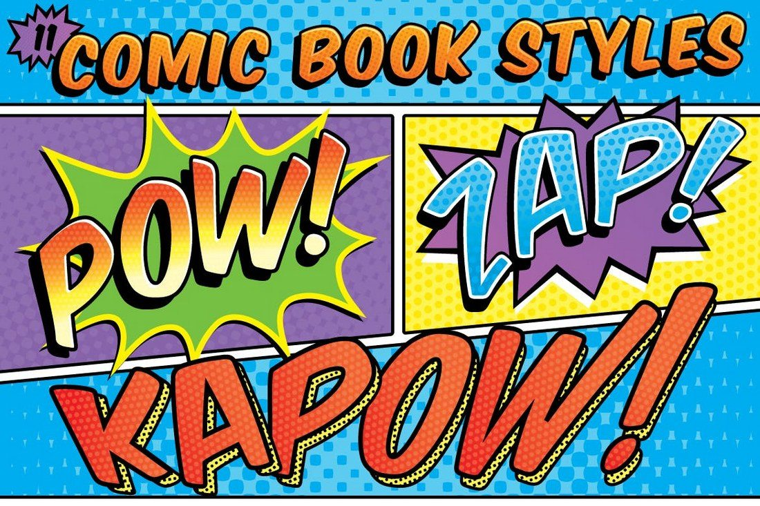 Comic-Book-Text-Styles 30+ Best Retro Text Effects & Styles design tips