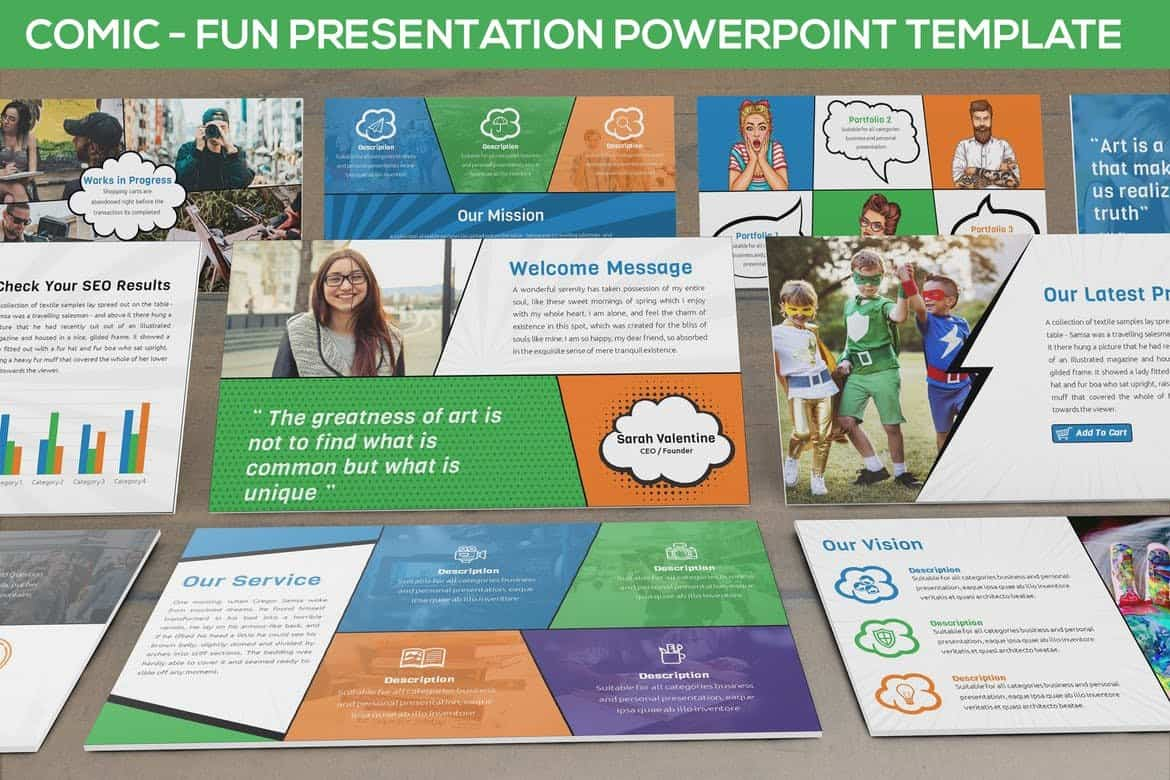 Comic - Fun Powerpoint Presentation Template
