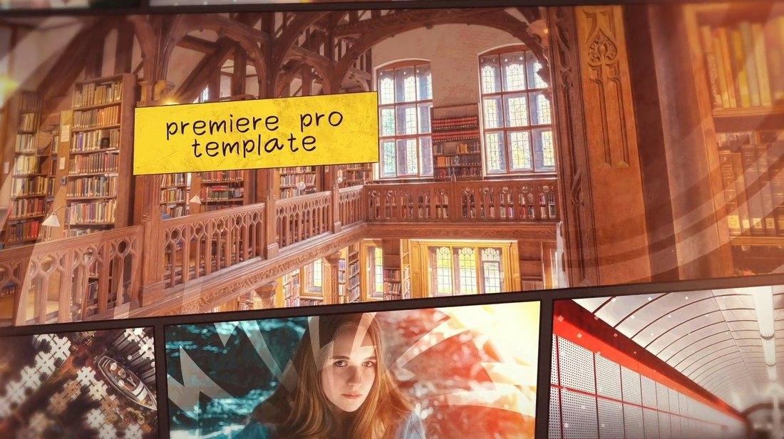 Comics Logo Intro - Premiere Pro Template