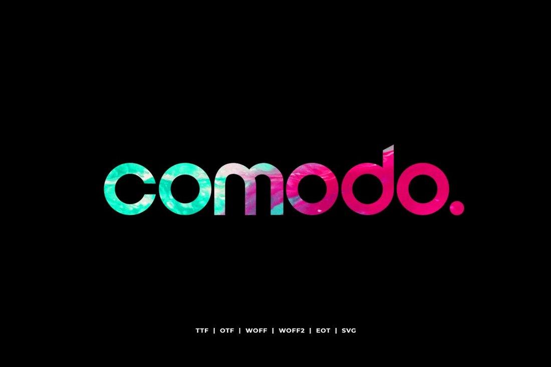 Comodo - Modern Display Typeface