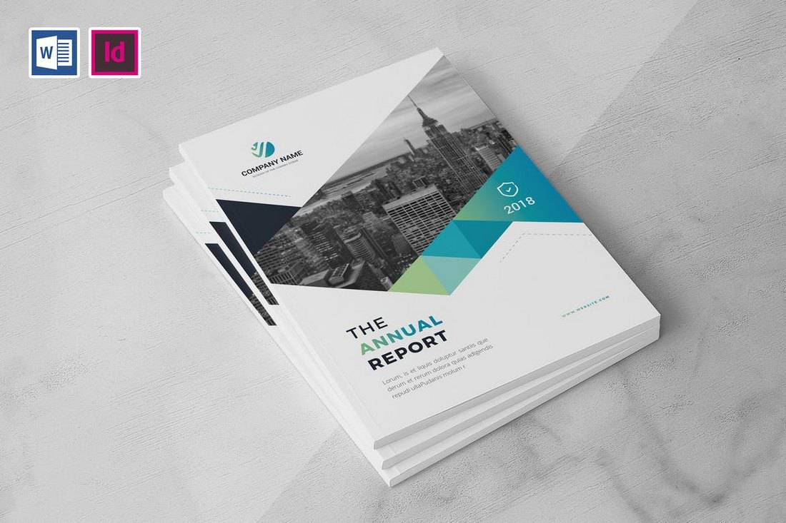 Company Annual Report Brochure Word Template