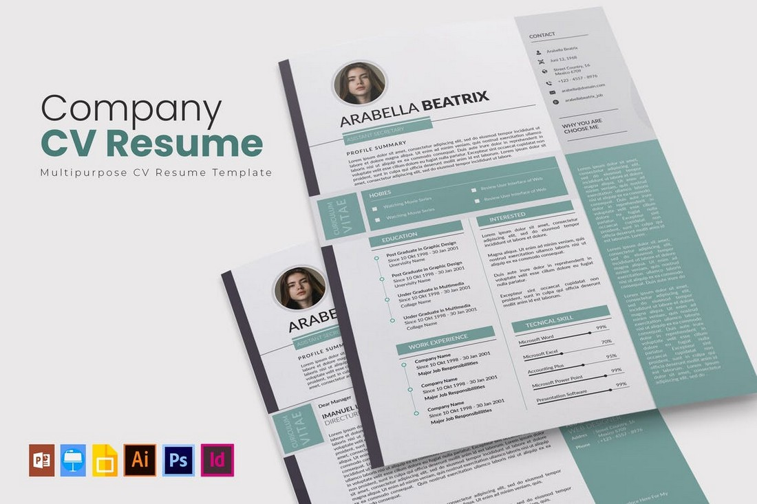 Company CV & Resume for Apple Pages