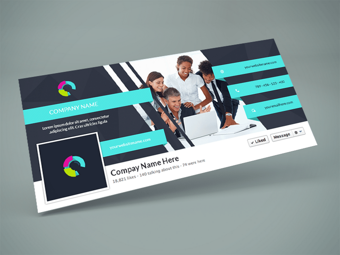 Company Facebook Cover PSD Design Template  Cover Template