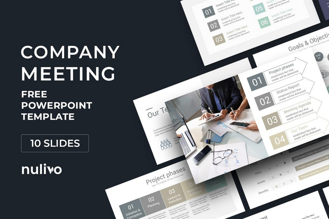 Company-Meeting-Free-PowerPoint-Template 20+ Best Webinar PowerPoint Templates (Remote Presentation PPT Slides) design tips