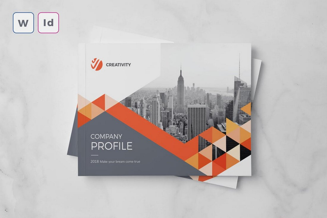 Company Profile A5 Word Brochure Template